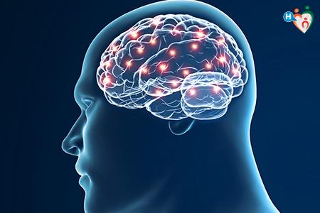 immagine ch mostra la proliferazione di cellule epiteliali nel cervello, portando così a un emangioma cerebrale.