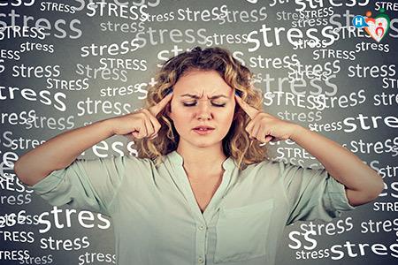 Immagine di una donna sotto stress