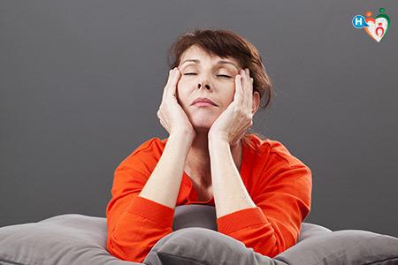 Immagine di una donna in menopausa