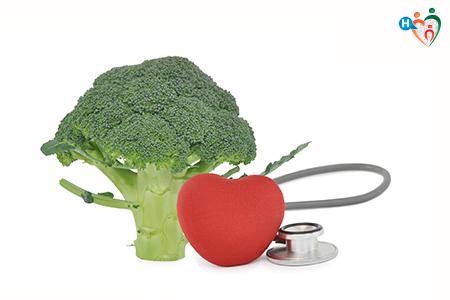 Immagine che mostra un cavolo con vicino un cuore a significare come questo sia d'aiuto nel combattere la malattie cardiovascolari