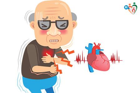 Immagine di un vecchietto che ha dolore al petto