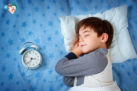 Immagine di un bambino che dorme