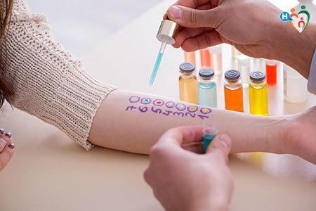 Immagine che motra come si fanno i test dell'allergia