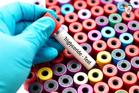 Immagine di una provetta di sangue da sottoporre al test per i trigliceridi