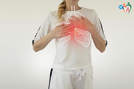 Immagine che ritrae dei polmoni luminosi
