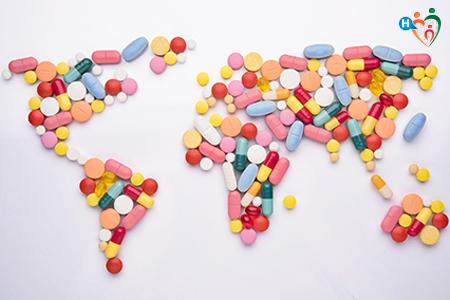 immagine che raffigura un planisfero di pillole