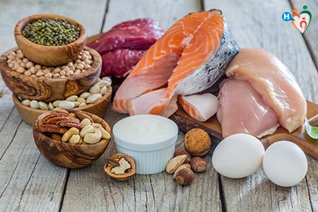 Foto che ritrae alimenti ricchi di proteine