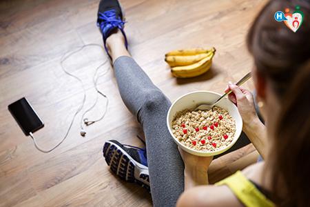 Immagine che ritrae un pasto dopo lo sport
