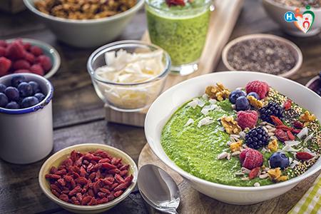 Fotografia che ritrae cibo ricco di antiossidanti