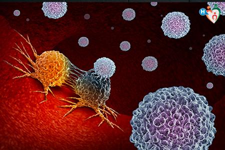 Immagine che mostra cellule tumorali