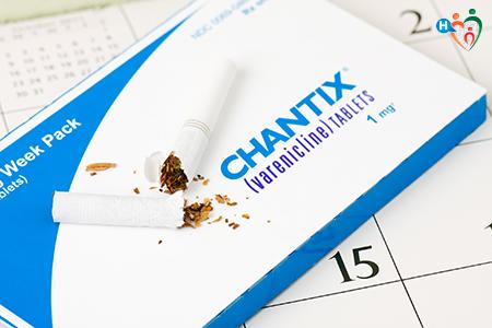Immagine che raffigura una confezione di Champix
