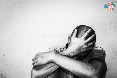 Immagine che ritrae un uomo depresso