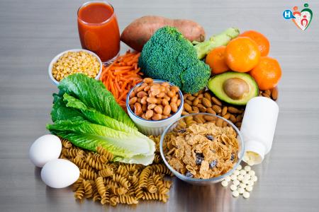 Immagine di alimenti che contengono acido folico, vitamina B9