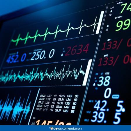 Immagine che ritrae lo schermo di un ECG
