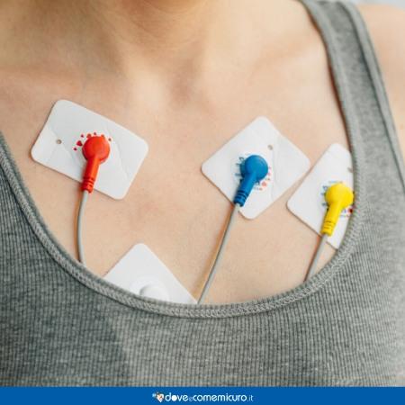 Immagine che ritrae un petto durante l'elettrocardiogramma
