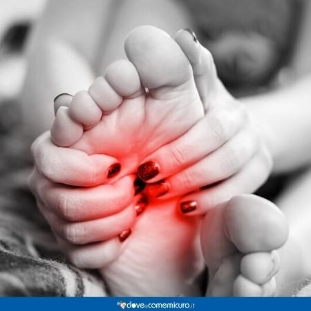 Immagine di una pianta del piede dolorante