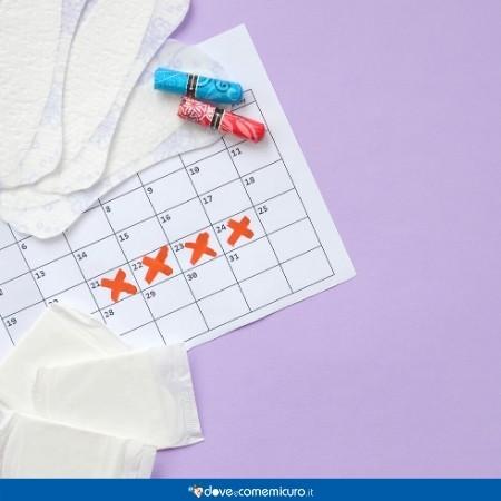 Immagine che ritrae un calendario irregolare del ciclo mestruale