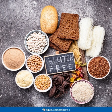 Immagine che ritrae alimenti con glutine