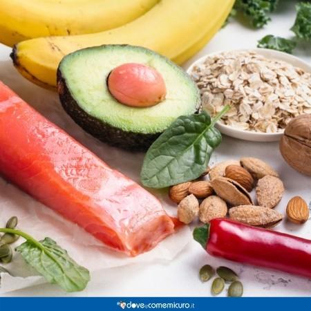 Immagine che ritrae gli alimenti che stimolano la dopamina