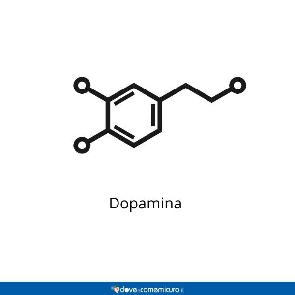 Immagine che ritrae una molecola di dopamina