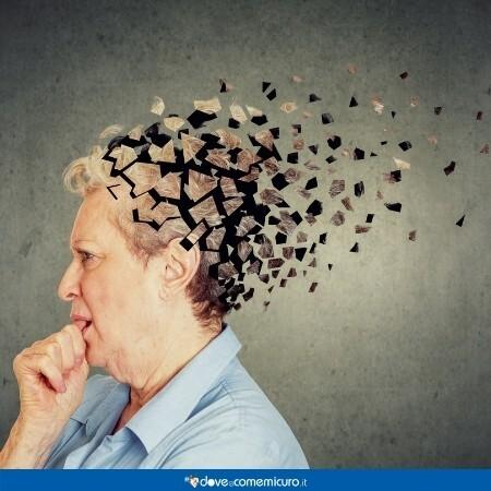 Immagine che mostra la mente di una donna che si sgretola