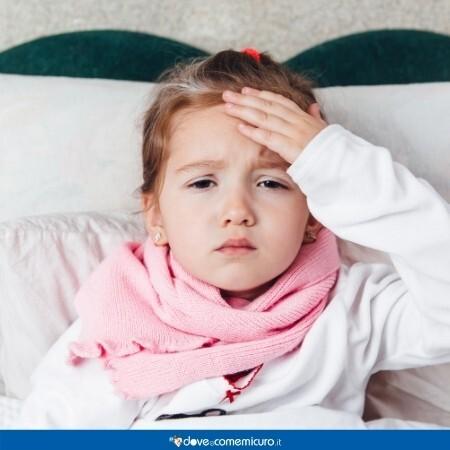 Immagine che mostra una bambina malata