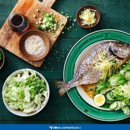 Immagine che rappresenta un pasto con pesce grigliato