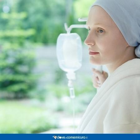 Immagine di un paziente che sta eseguendo la chemioterapia