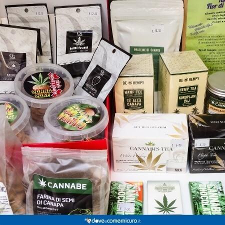 Immagine che rappresenta alcuni prodotti con canapa utilizzati in Italia