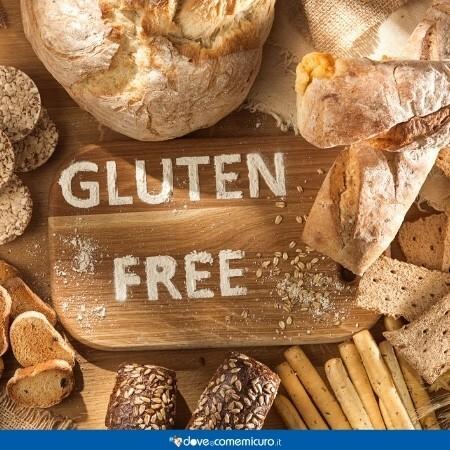 Immagine che rappresenta un tagliere con degli alimenti che contengono glutine