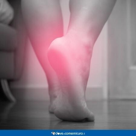 Immagine che rappresenta il dolore al piede, fascite plantare