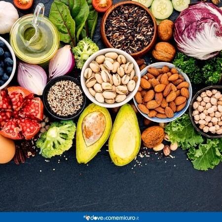 Immagine che rappresenta tanti tipi di cibo sano diverso