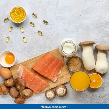 Immagine che rappresentadei cibi che contengono vitamina D