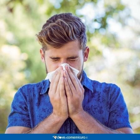 Immagine che rappresenta un uomo allergico