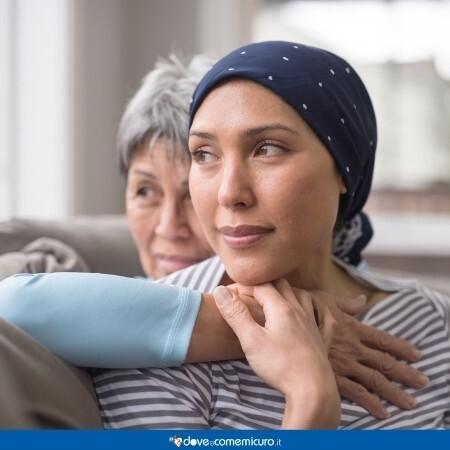 Immagine che rappresenta una donna che è affetta da un tumore