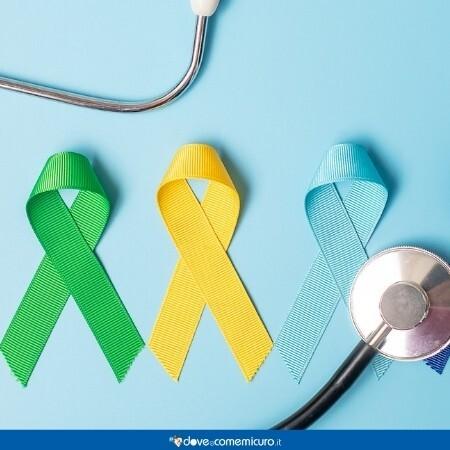 Immagine che rappresenta dei nastri che rappresentano tumori