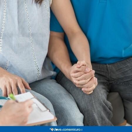 Immagine che rappresenta una coppia dallo psicologo