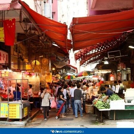 Immagine che rappresenta un wet market cinese