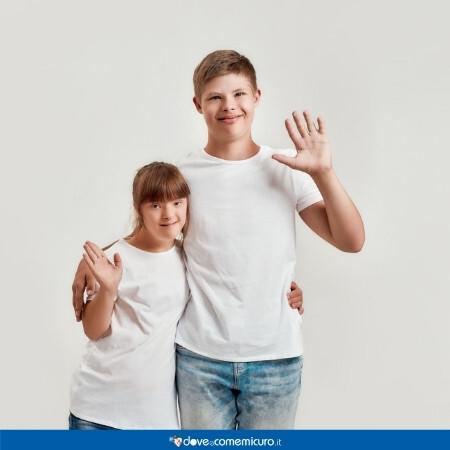 Immagine che rappresenta due persone con sindrome di down