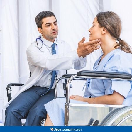 Immagine che rappresenta una donna in gravidanza dall'endocrinologo
