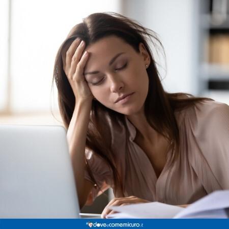 Immagine che rappresenta una persona che soffre di stanchezza cronica
