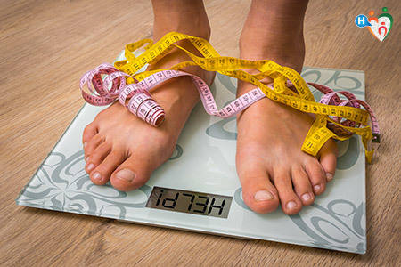 Obesità e controllo del peso: misurazione mediante bilancia