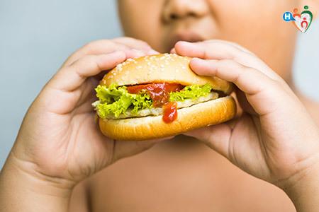 Hamburger e consumo di cibo nella popolazione infantile
