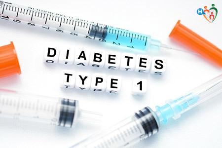 Diabete TIpo 1 grafica con siringa