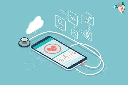 Immagine che mostra uno stetoscopio stilizzato che li collega a uno smartphone