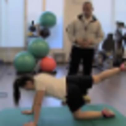Fisioterapia: estensione dell'anca a carico del gluteo
